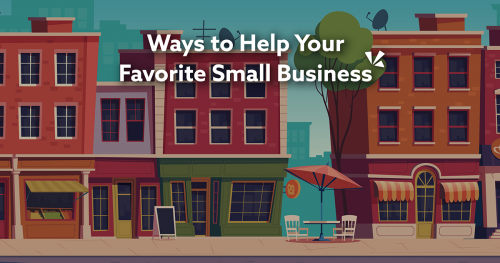 Ways to help your favorite small business blog description with illustration of downtown