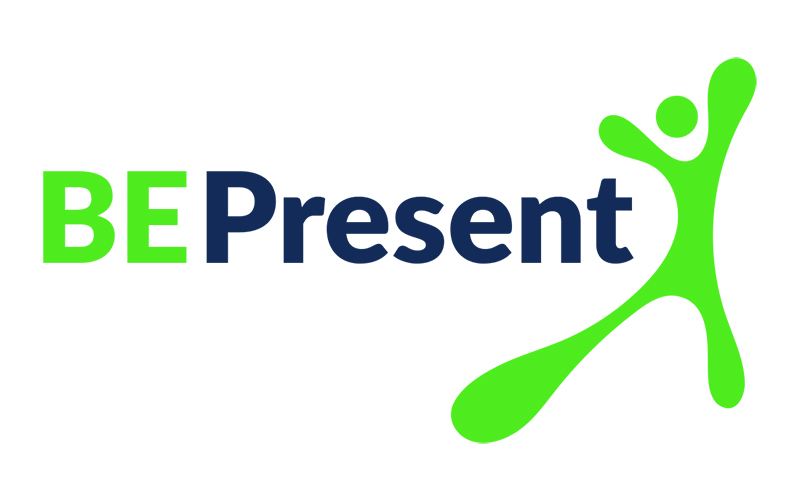 be present logo design