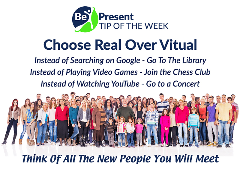 BASC be present choose real over virtual Facebook post