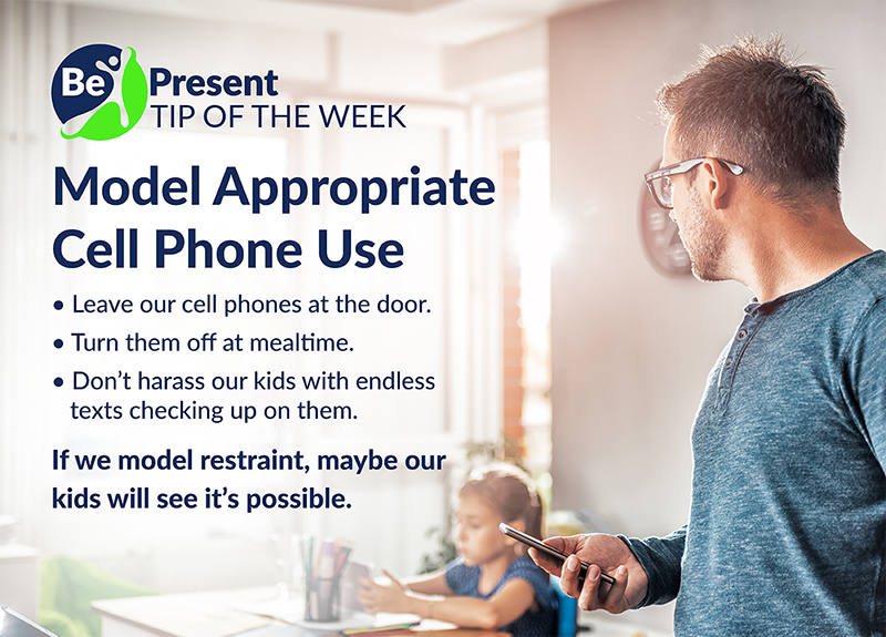 be present social media campaign for appropriate cell phone use