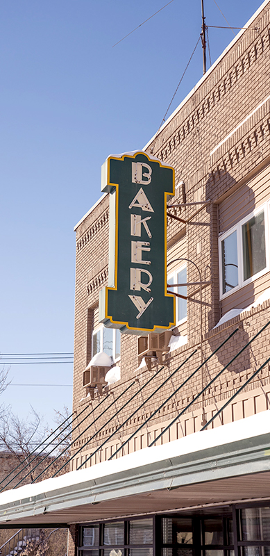 Raphael's Bakery exterior of shop with bakery sign