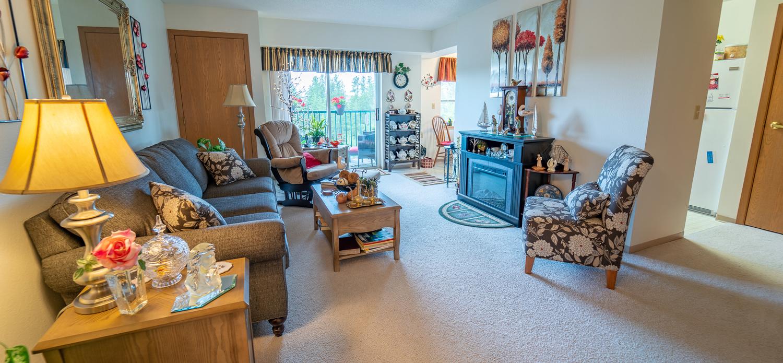 Northview Manor interior of living room
