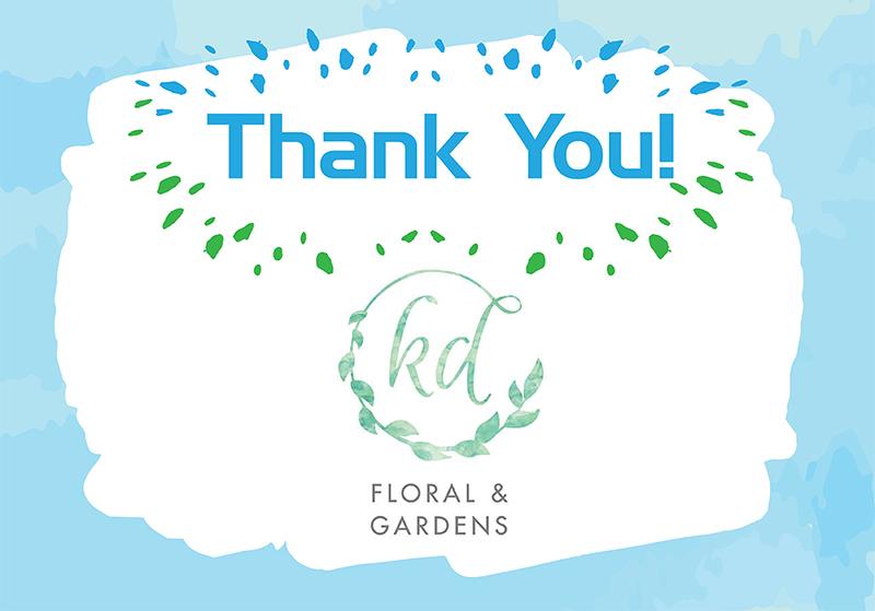 KD floral thank you social media post
