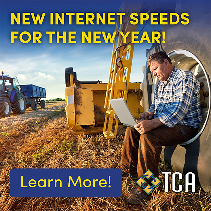 TCA new internet speeds for the new year google advertisement