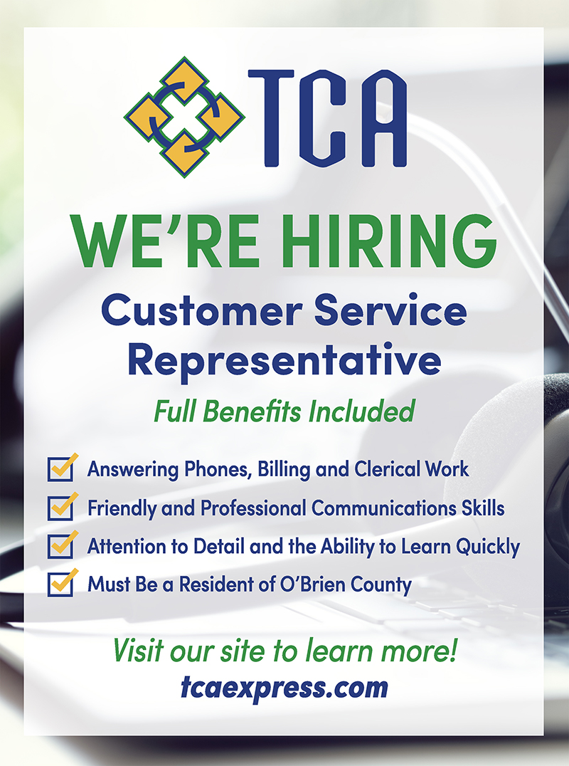 TCA hiring newspaper advertisement