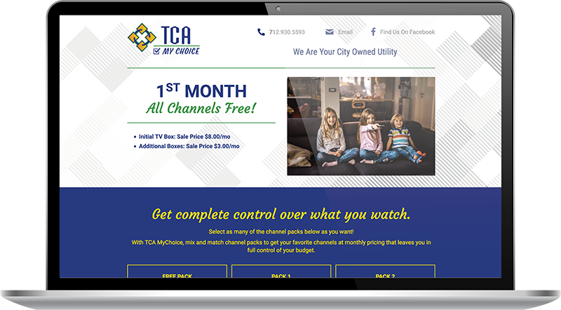 TCA website page