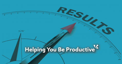Helping you be productive - blog header