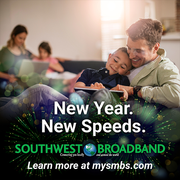 Southwest Broadband google ad campaign for the new year