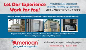 American Garage Door 'let our experience work for you' advertisement