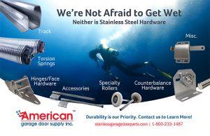 American Garage Door stainless steel hardware advertisement