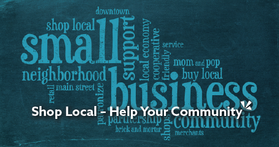 Shop local and help your community - blog header