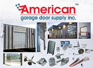 American Garage Door logo with product photos