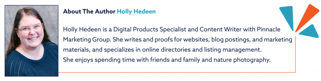 About the author illustration for digital products specialist Holly Hedeen