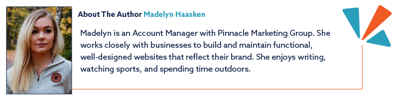 About the author illustration and description for account manager Madelyn Haasken