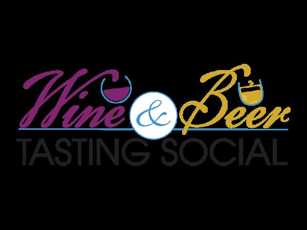 Wine and beer tasting social logo