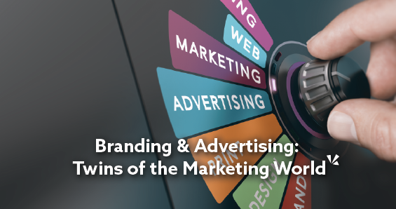 Branding and advertising: twins of the marketing world blog post with image of dial