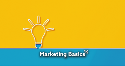 lightbulb clicking on to reference the basics of marketing