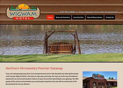 Wigwam Motel website homepage