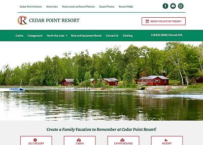 Cedar Point Resort website hompage