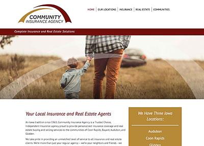Community Insurance Agency home page screenshot