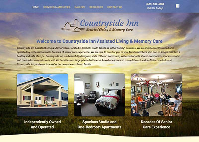 Countryside Inn Assisted Living and Memory Care website homepage
