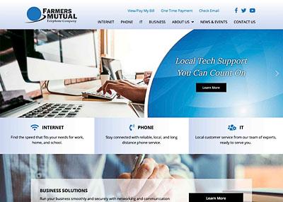 Farmers Mutual Telephone Company website homepage