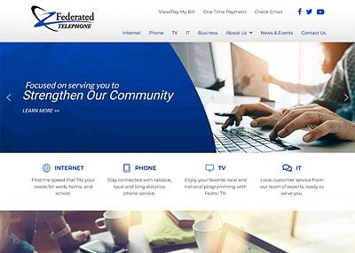 Federated Telephone website homepage