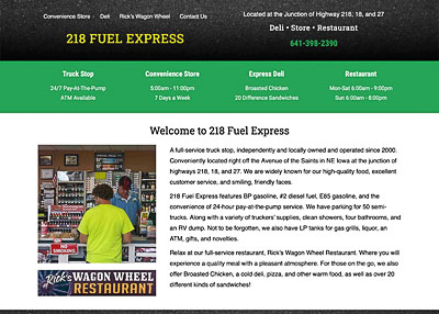 Floyd Truck Stop/218 Fuel Express home page screenshot