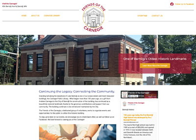 Friends of the Carnegie organization's website home page