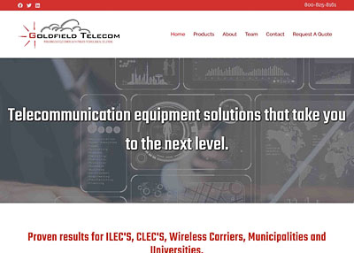 Goldfield Telecom website homepage