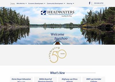Headwaters Regional Development Commission Website Homepage