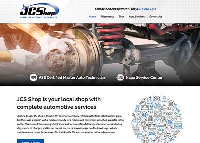 JCS Shop | Complete Automotive home page screenshot