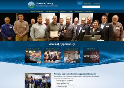 Kossuth County Economic Development Corporation website homepage