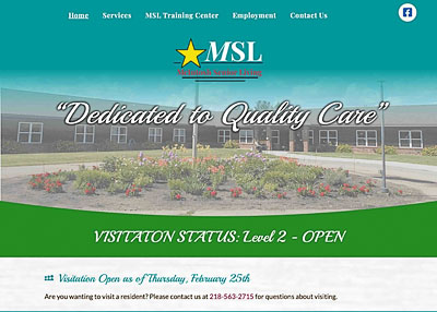 McIntosh Senior Living website homepage