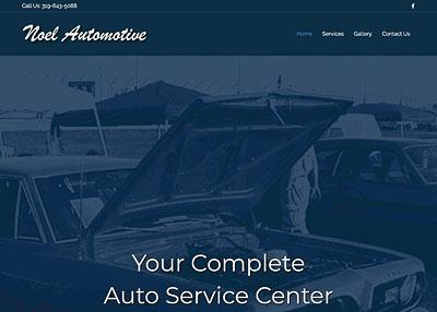 Noel Automotive home page screenshot
