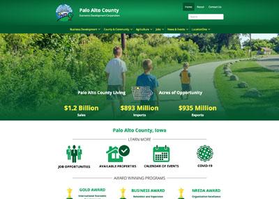 Palo Alto County Economic Development Corporation website homepage