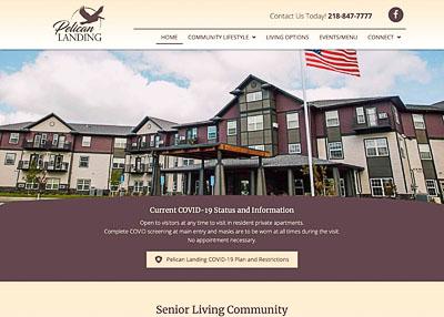 Pelican Landing Senior Living website homepage