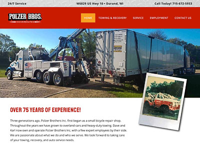 Polzer Brothers Incorporated home page screenshot