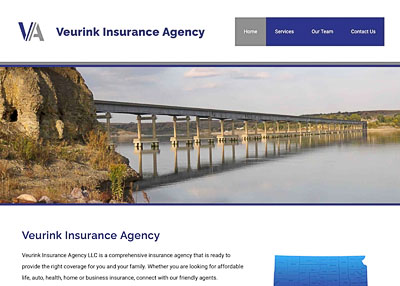 Veurink Insurance Agency home page screenshot