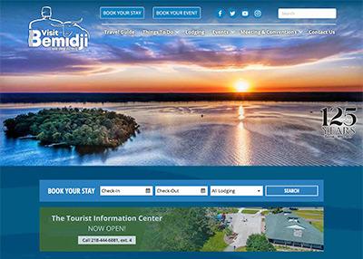 Visit Bemidji city website homepage
