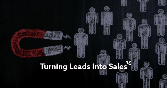 turning leads into sales blog post graphic